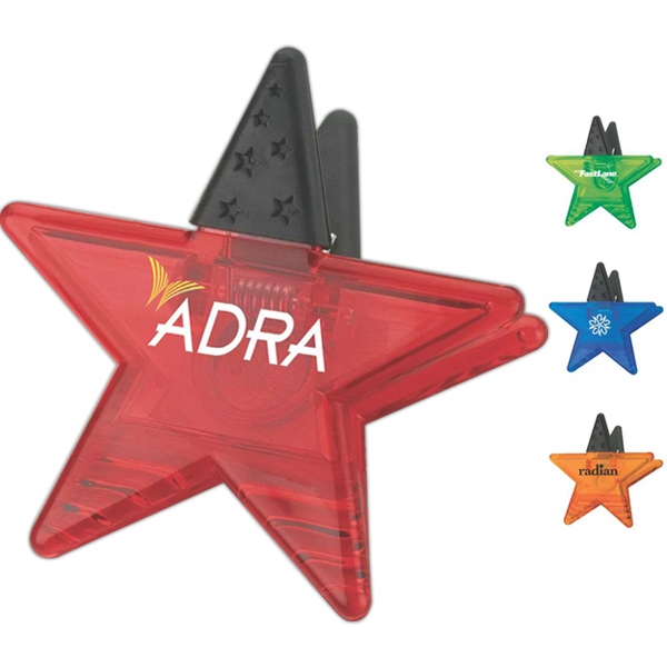 Imprinted Star Memo Holder Magnet