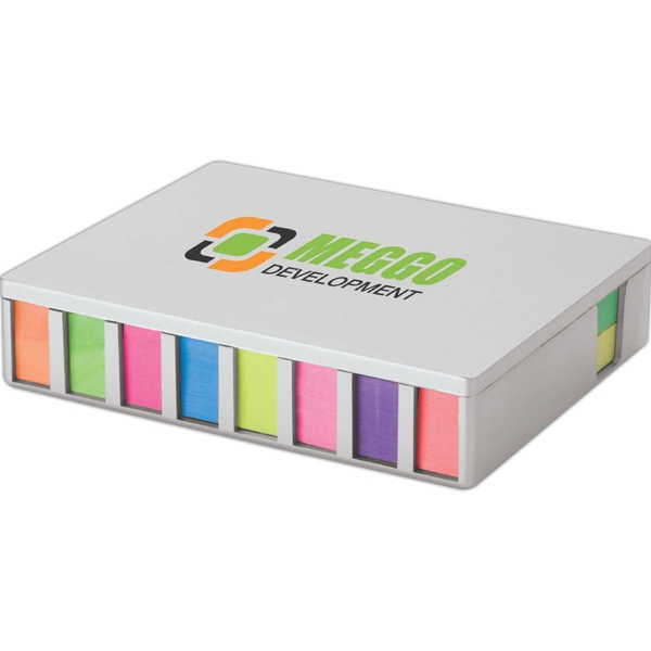 Promotional Sticky Note & Flag Desk Set w/Mirror