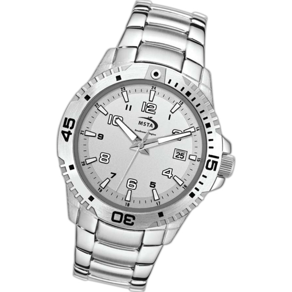 Imprinted Steel Bracelet Watch