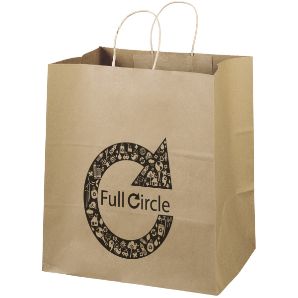 Customized Eco Brute Shopper Bag made of 100% recycled paper