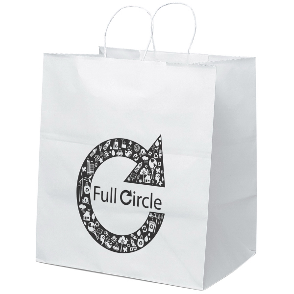 Promotional Brute Shopper Kraft White Bag