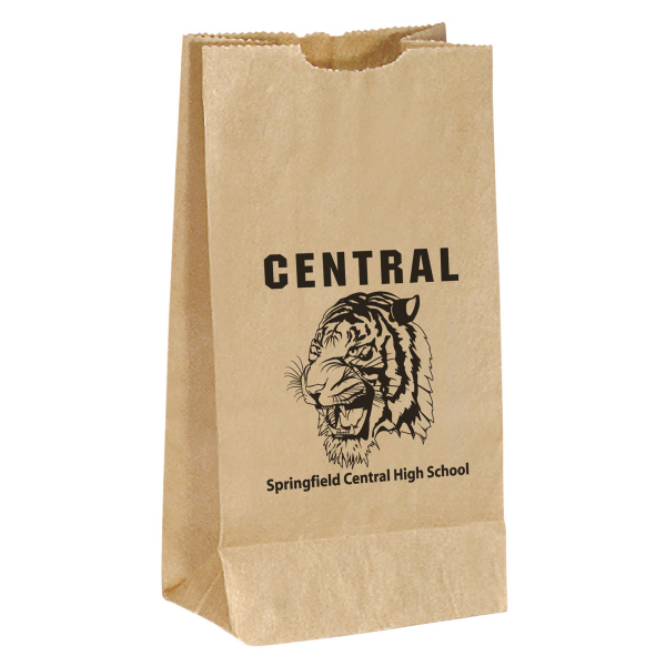 Custom Unlined Brown paper popcorn bag