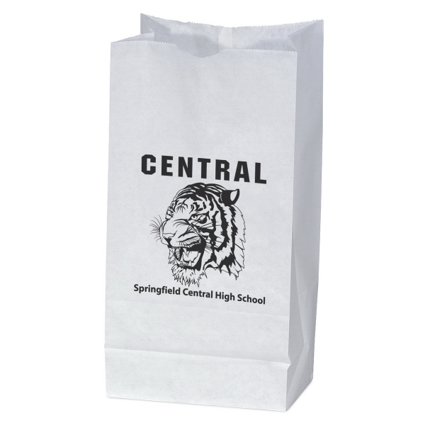 Imprinted White Unlined Paper Peanut bag