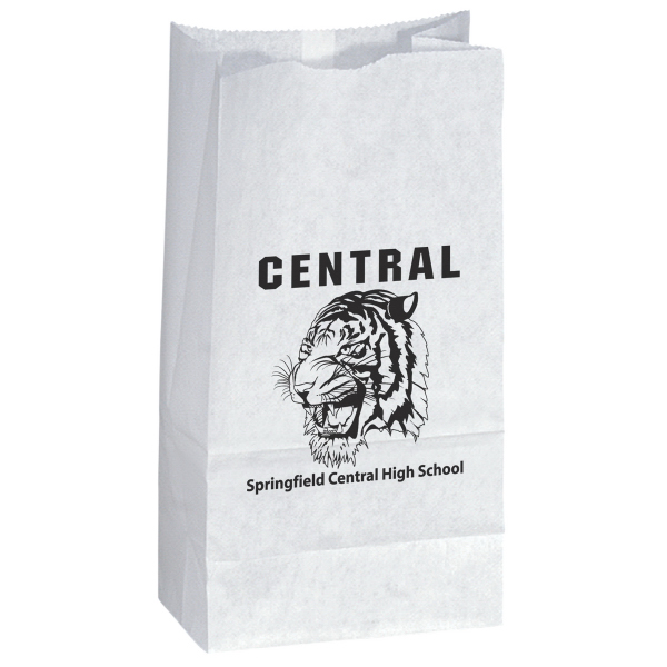 Custom White Popcorn Bag