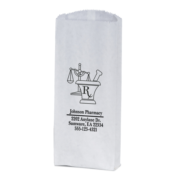 Personalized White Pharmacy paper bag