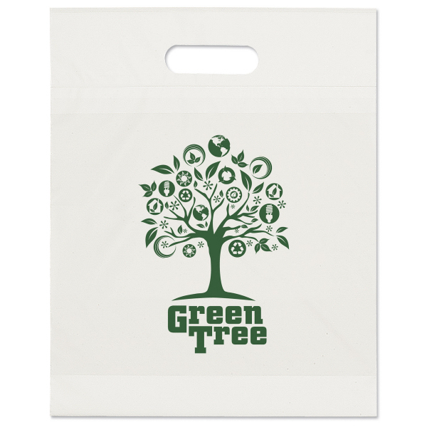 Printed White Eco Die Cut Handle Bag
