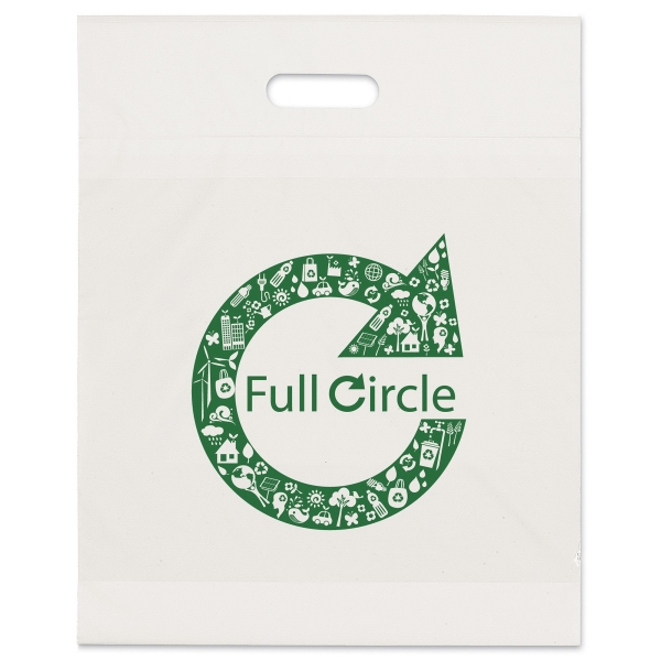Custom White Eco Die Cut Handle Bag