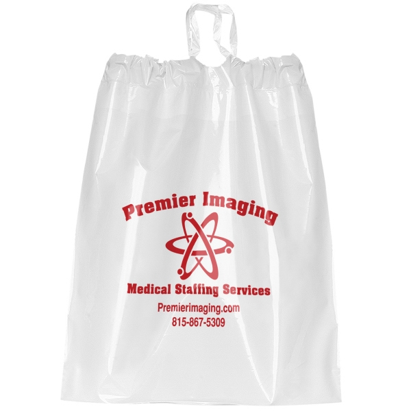 Imprinted Plastic Poly Draw Bag