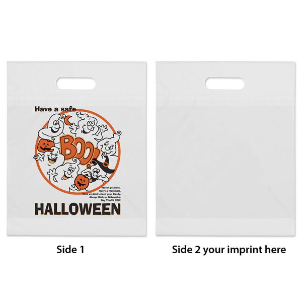 Printed Boo Ghost Plastic Bag