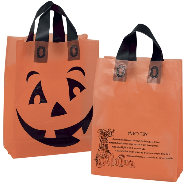 Customized Orange Frosted Pumpkin Shopper