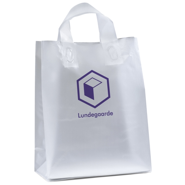 Customized Sparkle Frosted Shopper Plastic Bag