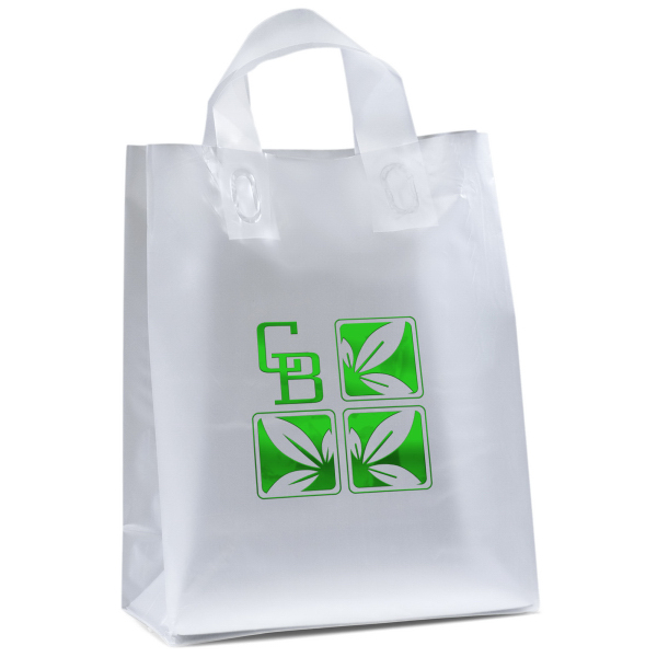 Personalized Venus Frosted Shopper Plastic Bag