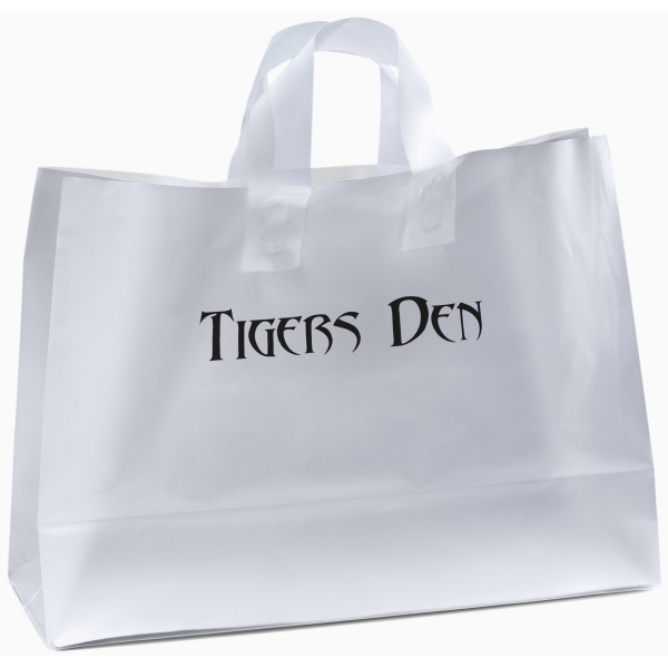 Imprinted Daisy Frosted Shopper Plastic Bag