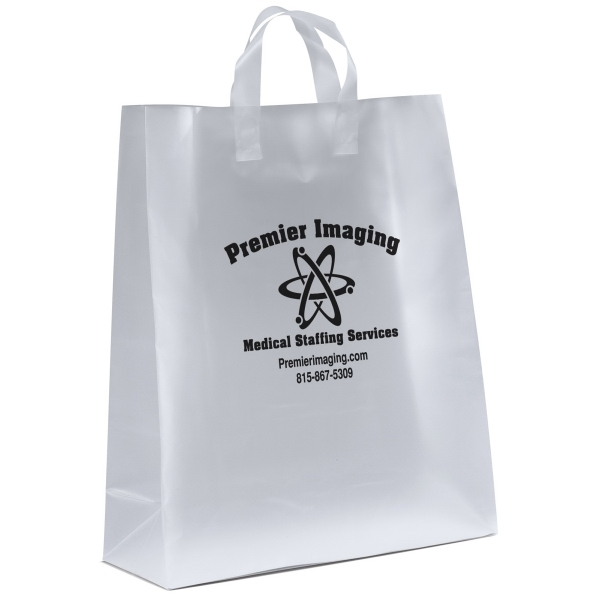 Personalized Emmett Frosted Shopper Plastic Bag