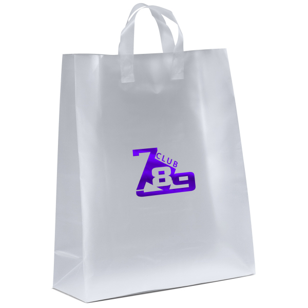 Custom Jupiter Frosted Shopper Plastic Bag