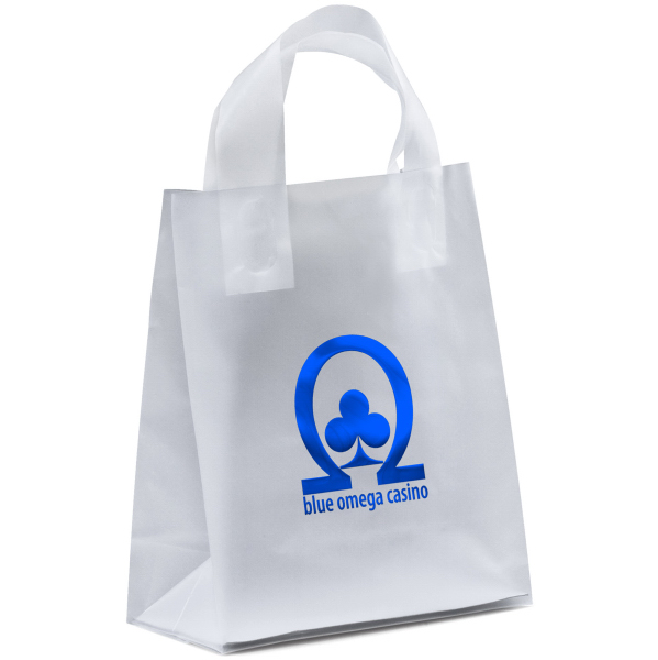 Custom Mars Frosted Shopper Plastic Bag