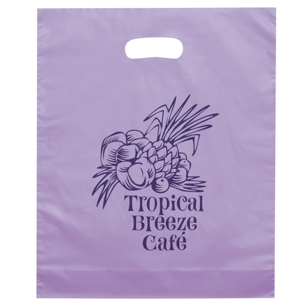 Imprinted Orchid Die Cut Plastic Bag