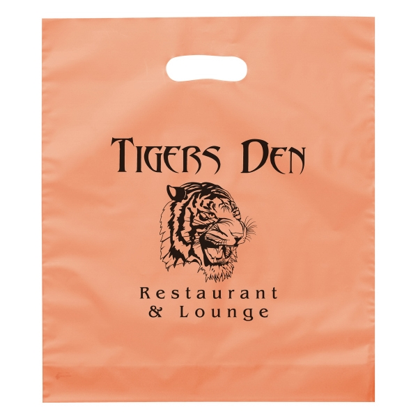 Promotional Rose Frosted Brite Die Cut Plastic Bag