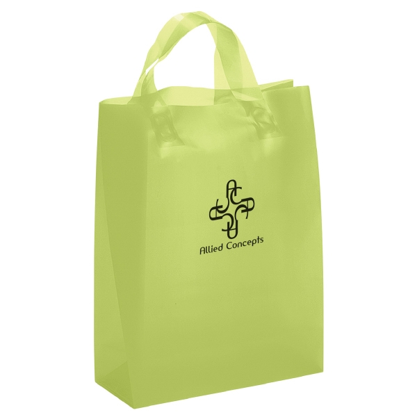 Imprinted Lily Frosted Brite Shopper Plastic Bag