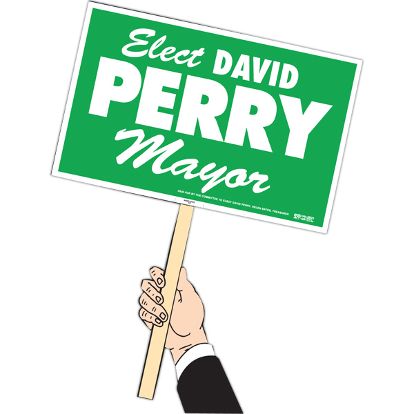 Personalized Rally Sign with Handle