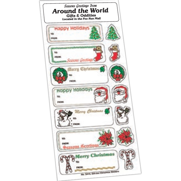 Personalized Holiday Stickers