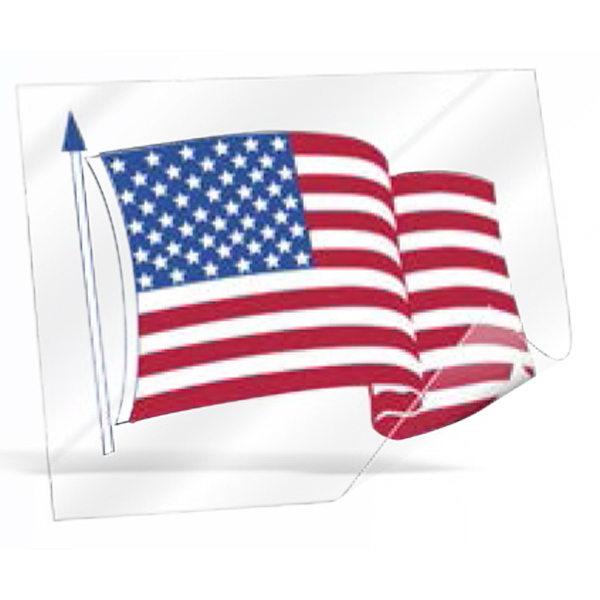 Promotional Premium Flag Design Custom Shape Decal