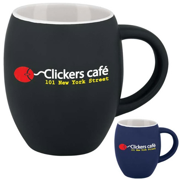 Personalized Matte Barrel Ceramic Mug - 16 oz