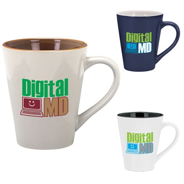 Customized Designer Two-Tone Mug - 14 oz