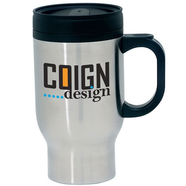 Imprinted Stainless Steel Traveler Mug - 17 oz