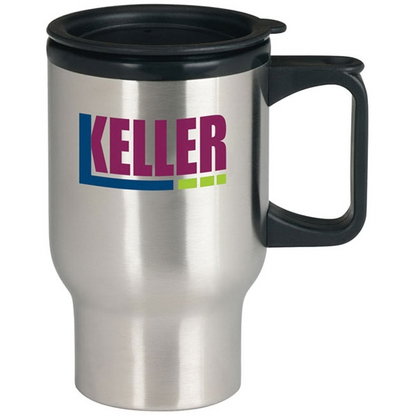 Personalized Stainless Steel Trip Mug - 17 oz