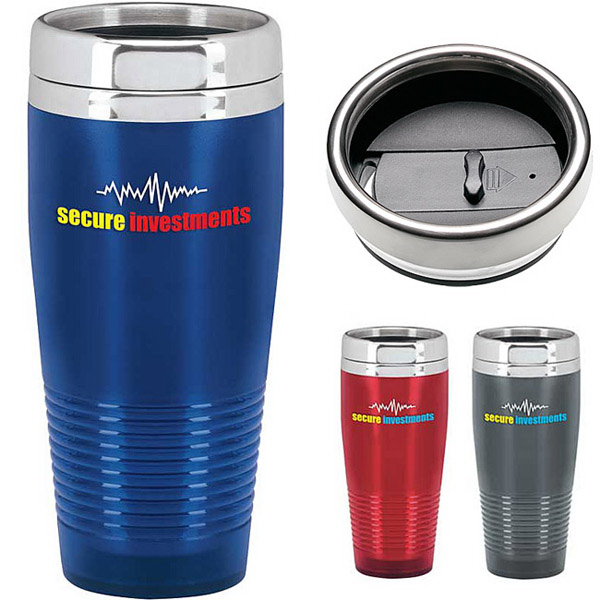 Imprinted Frosted Ridge Tumbler - 18 oz