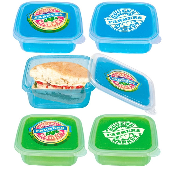 Imprinted Cool Gear (TM) Freezable Gel Lid Storage Container