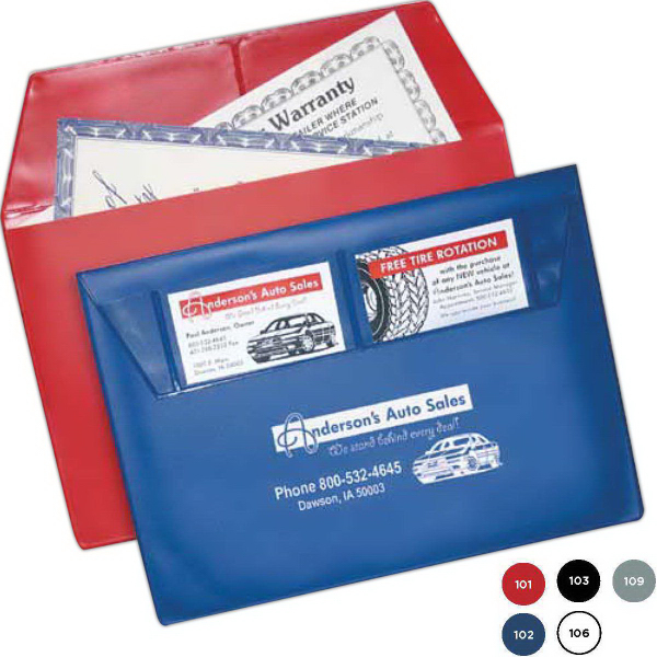Promotional Auto Owners Manual Holder