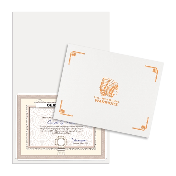 Personalized Linen Certificate Folder