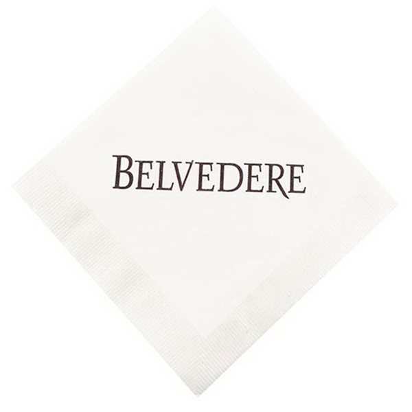 Personalized 1-Ply White Beverage Napkin with Coin Edge