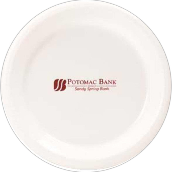 "Printed 7"" Round Plastic Plate"