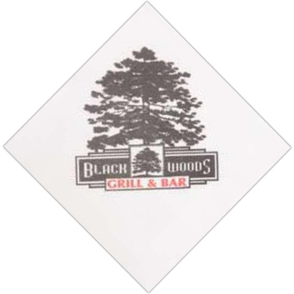 Imprinted One Ply Beverage Napkin