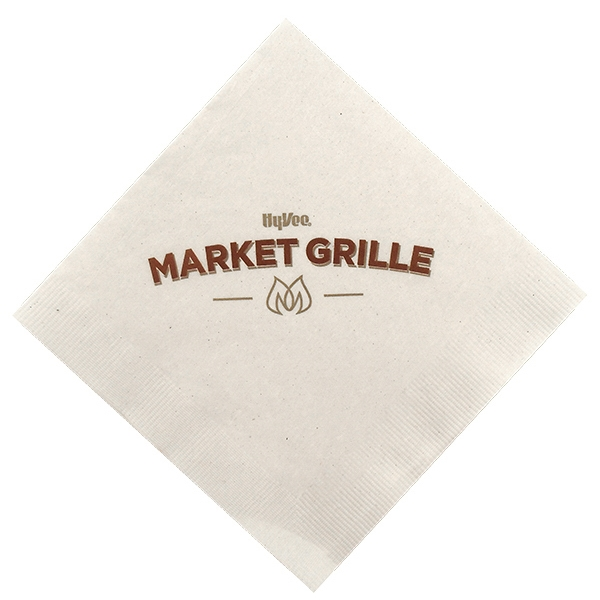 Imprinted Two Ply White Beverage Napkin