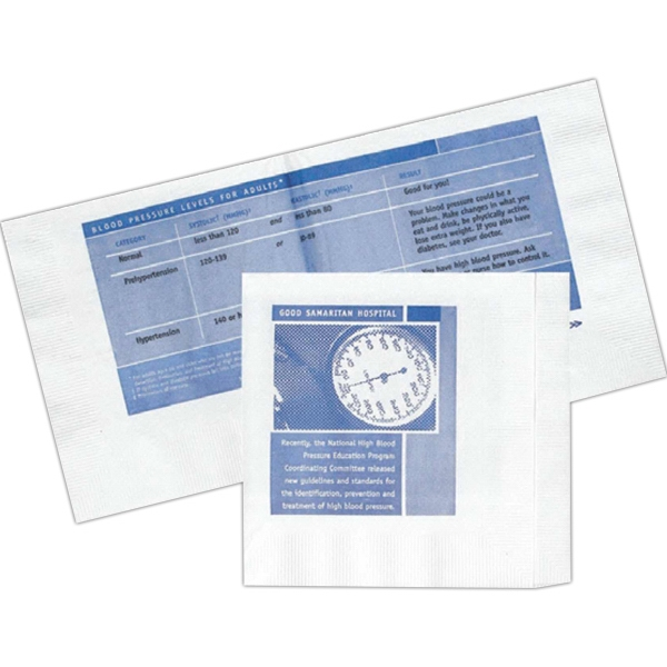 Personalized Three Ply Beverage Napkin