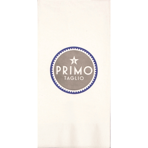 Imprinted Three Ply White Dinner Napkin (1/8 Fold)