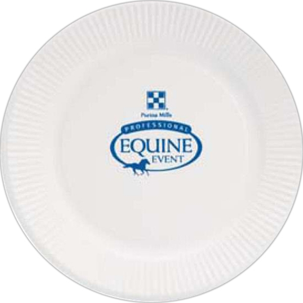 "Personalized 7"" Round, White Paper Plate"