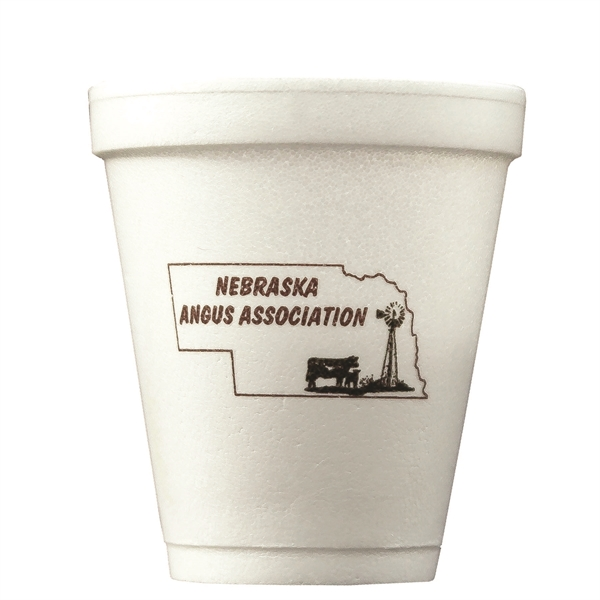 Imprinted The 500 Line 8 oz. Foam Cup