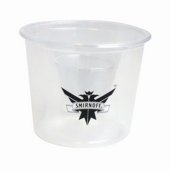 Imprinted Clear Bomber Cup
