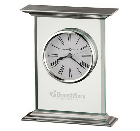 Customized Clifton Table Glass Clock