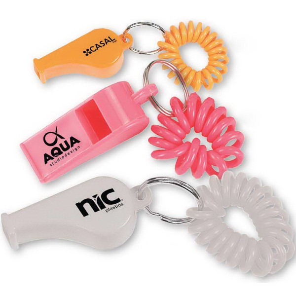 Printed Coil Wrist Bracelet with Whistle