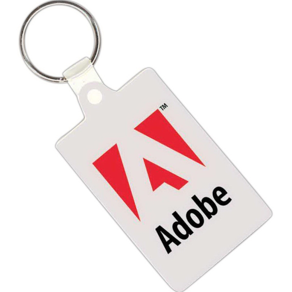 Personalized Soft Vinyl Rectangular Key Tag