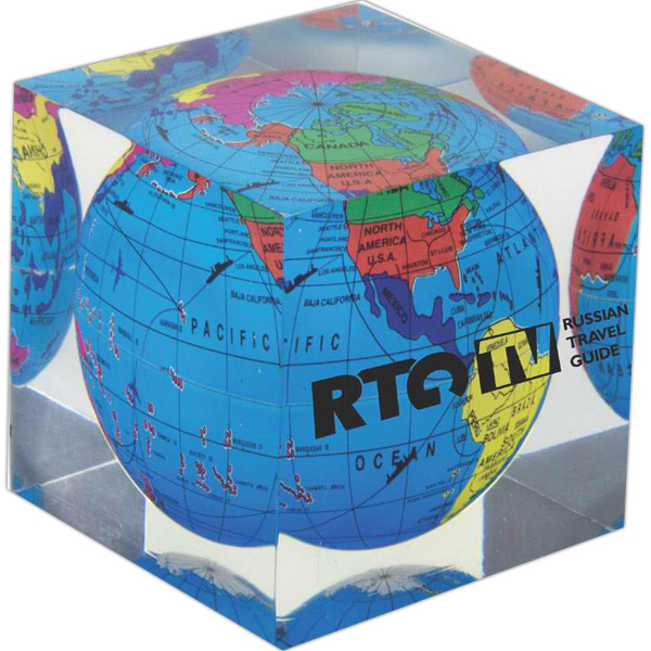 Personalized Acrylic Cube Paperweight