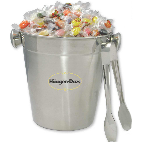 Custom Stainless Ice Bucket with Tong--Jelly Belly