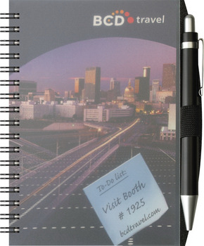 Personalized ClearView (TM) Jotter with PenPort and Pen