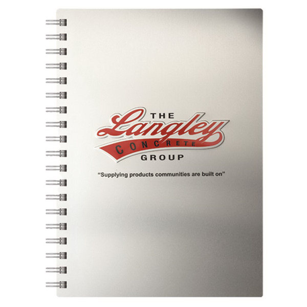 Printed AlloyJournal (TM) Medium Aluminum NoteBook